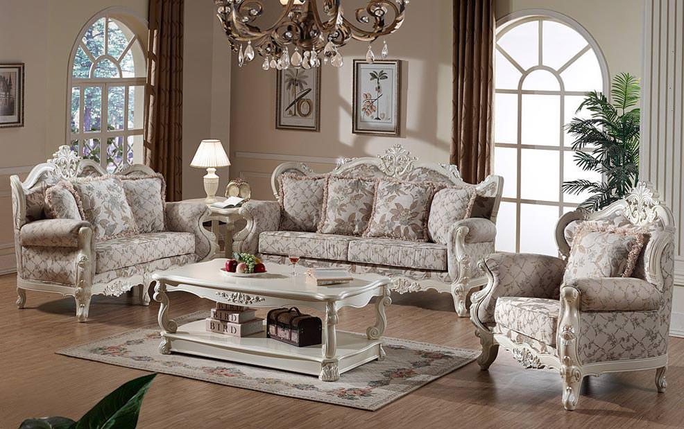 凯撒豪庭欧式风格实木布艺沙发