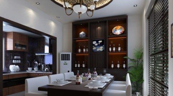 餐厅酒柜装修效果图,浪漫精致的红酒生活